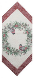 Christmas wreath Table runner 40x160cm