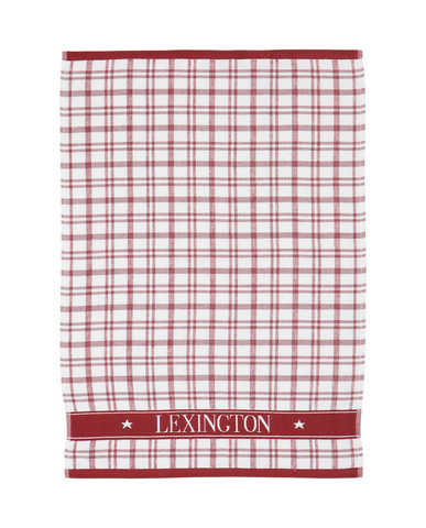 Holiday Terry Kitchen Towel White-Red