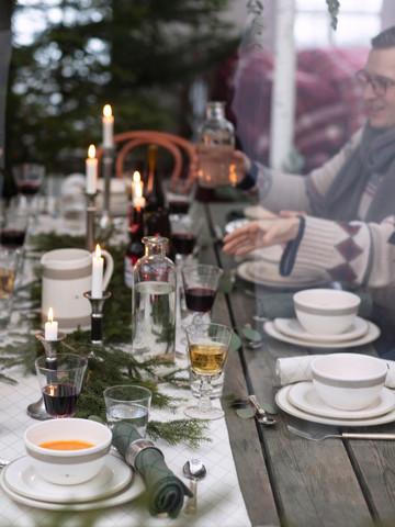 Jacquard Tablecloth White