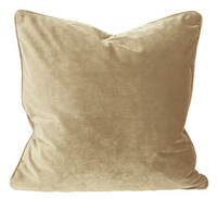 Elise Velvet Cushion Cover Light Gold 60x60