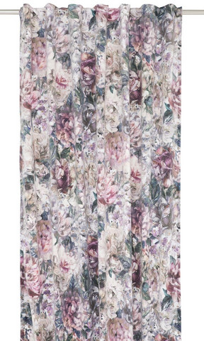 Artflower Curtainset 130x260 Rose