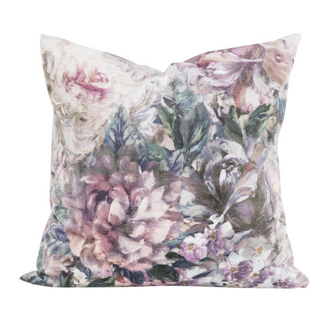 Velvet Cushion cover Artflower Multicolor 45x45