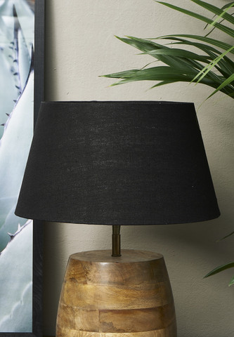 Loveable Linen Lampshade Black 28x38