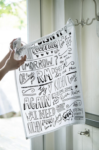 Tea Towel RM Handwriting