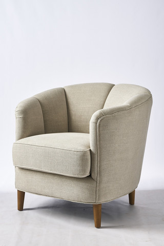 Rue Royale Armchair Linen FabFlax