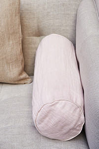Lovely linen Roll P.Cov Pink 50x20