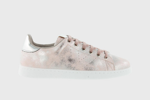 Stonewashed Metallic Tennis Shoe Rosa
