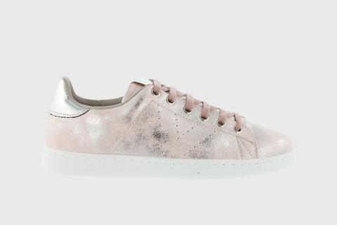 Stonewashed Metallic Tennis Shoe Rosa