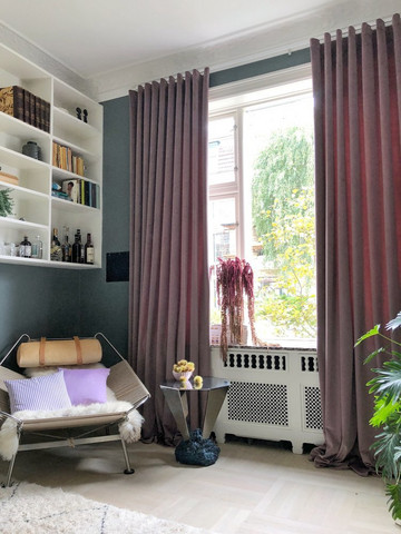 Spring Velvet Curtain 130cm White