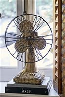 Rustic rattan table fan