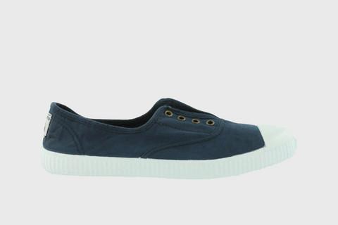 1915 Victoria Rubber-toecap Canvas Sneakers Marino
