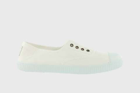 1915 Victoria Rubber-toecap Canvas Sneakers Blanco