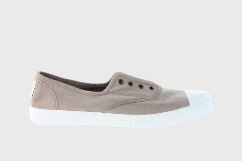 1915 Victoria Rubber-toecap Canvas Sneakers Stone