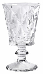 Diamond White Wine Glass Clear