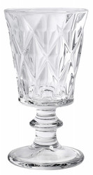 Diamond Red Wine Glass Clear