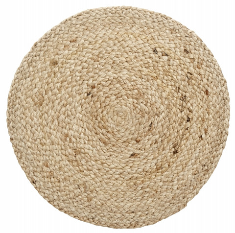 Placemat round natural jute