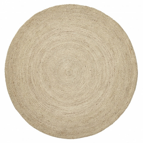JUTE round carpet Natural