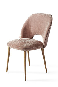 Victoria Dining Chair Velvet Pink