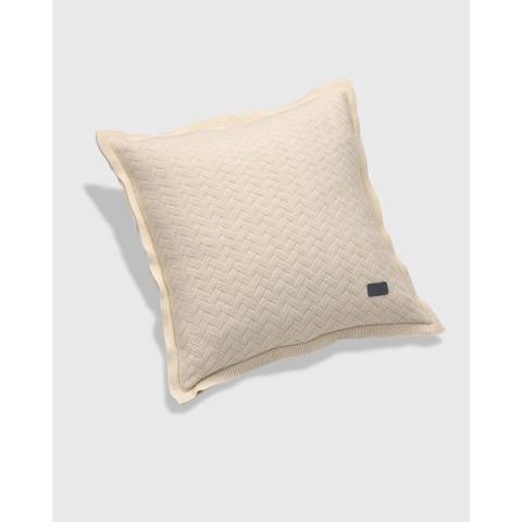 Fishbone knit cushion