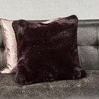 Boutique Burgundy FauxFur Pillow Cover 45x45