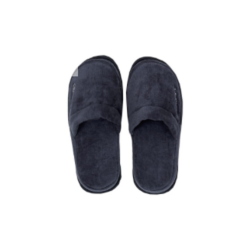 Premium Velour Slippers Sateen Blue