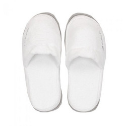 Premium Velour Slippers White