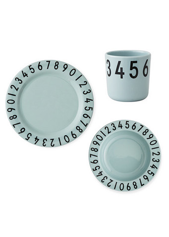 Melamine Number Gift Set Green