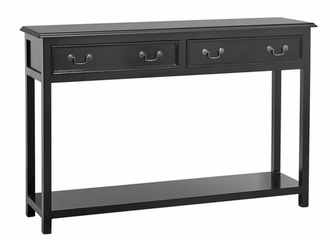 Console w/2 drawers,Black