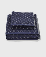 Diamond Towel Sateen Blue