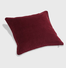 Velvety Cushion Carbernet Red 50x50