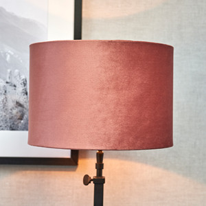 Velvet Cylinder Lampshade pink 20x30