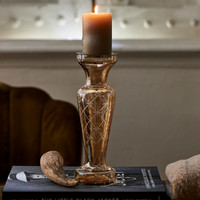 Luxury Carved Candle Holder gold
