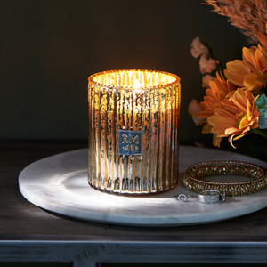 RM 48 Rustic Scented Candle gold