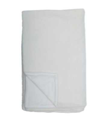 Fluffe Throw White 125x155