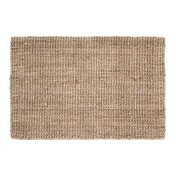 Doormat Jute Natural Grey 90x60