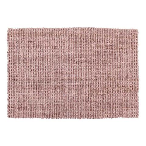 Ovimatto Juutti Vaaleanpunainen 90x60