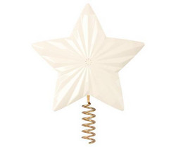 Star For Christmas Tree, Metal - Off White