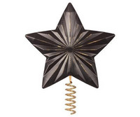 Star For Christmas Tree, Metal -Antracite
