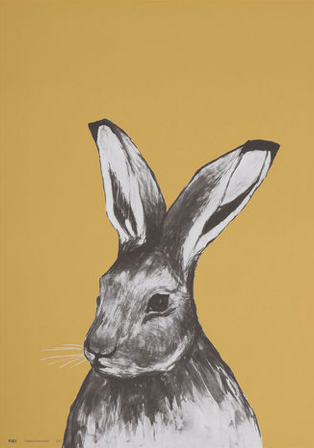 MIIKO Rabbit Poster Yellow 30x40