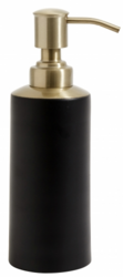 Soap Dispenser Black Brass Top