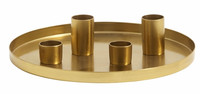Golden Tray w/4 candle cups, Small