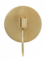 CIRCLE wall candle holder, brass