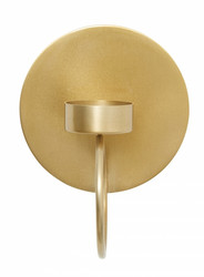 CIRCLE wall t-light holder, brass