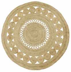 BALL Round Carpet w. pattern, Natural