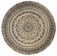 MAT Round Carpet, w. Black Print