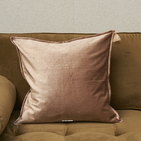 Tassel Treasure Pillow Cover Caramel 50x50
