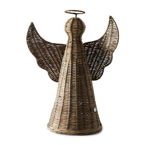 Rustic Rattan Christmas Angel M