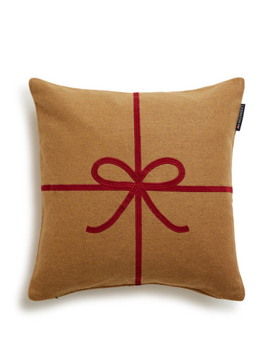 Holiday Bow Sham, Beige