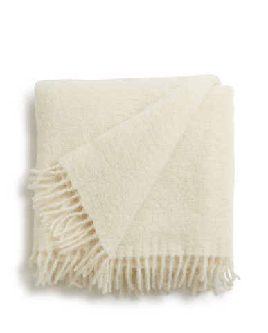 Holiday Mohair Throw, White