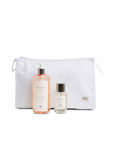 Holiday White Cosmetic Bag Bayside Calm